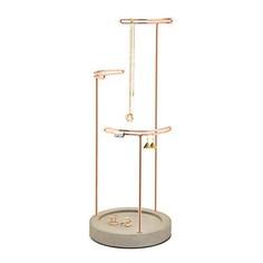 3-Tier Concrete & Copper Jewellery Stand