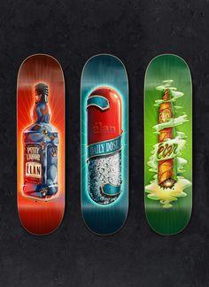 Elan Skateboards on Behance #elan #supervixen
