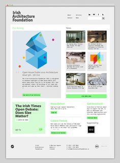 Irish Architecture Foundation #site #design #website #grid #layout #web