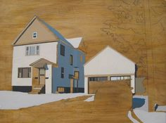 David Linneweh - Refurbished Landscape (Syracuse 3) | Daily Art Fixx Shop - Contemporary Art Gallery #art #painting