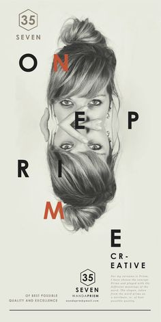 Self promotion by Wanda Priem #design #graphic #quality #typography