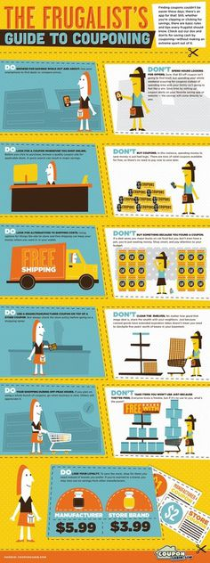 Frugalists Infographic #coupon #save #money