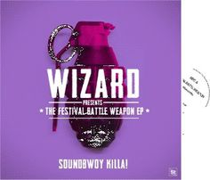 Wizard: The festival battle weapon #album #yellow #orange #cover #artwork #vinyl #grenade #purple #blue #green