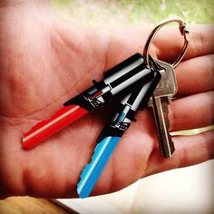 Saber Shaped Key Set #tech #flow #gadget #gift #ideas #cool