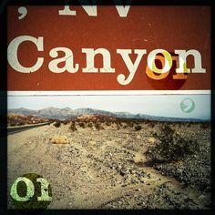 canyon_montage.png (c)virginibedard.com #road #trip #digital #nevada #vintage #art #canyon #california