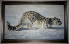 A different interpretation of realistic art - Angel Ivanov's paintings #leopard #animaln #snow #portrait #painting #paintings #art #animal #oil