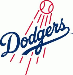 Los Angeles Dodgers Primary Logo (2012) The Dodgers' primary logo is modified for the 2012 season, with a thicker baseball and flight lin #script #sports #baseball #type #dodgers
