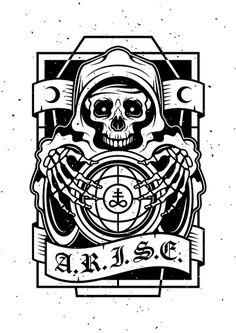 ARISE #screenprint #silkscreen #tattooart #illustration #darkerhalf #darkerhalfcult #endordesigns