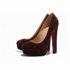 Coffee Christian Louboutin Bibi 140mm Suede Platform Pumps Red Sole Shoesibi 140mm Suede Platform Pu #shoes