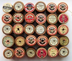 Vintage Spools - TheDieline.com - Package Design Blog #packaging #print #vintage #typography