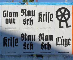 Volksbuehne 1 #type #gothic #germany #poster