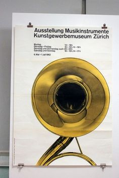 Ausstellung Musikinstrumente | Flickr - Photo Sharing! #swiss #typography #richard #lohse #poster #paul