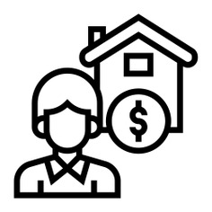 See more icon inspiration related to broker, sale, work, professions and jobs, architecture and city, real estate, dollar sign, employee, job, house, dollar and people on Flaticon.
