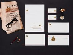 Personal Branding | BOND #sewn #identity #gold #stationery