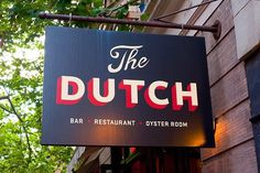 Typeverything.com The Dutch by Unknown.(via nyctype) #restaurant #signage #futura #type #typography