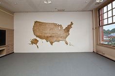 United States Map Made from Thousands of Wood Matches by Claire Fontaine #sculpture #matchsticks #art