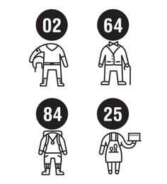 Field Study #black and white #icons #numbers #avatars