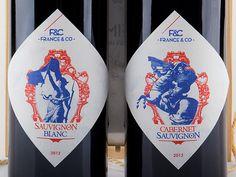 France&Co Wine packaging #packaging #france #design #label #wine
