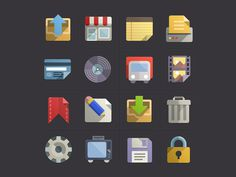 Flat Design Icons Set Vol3 #icons