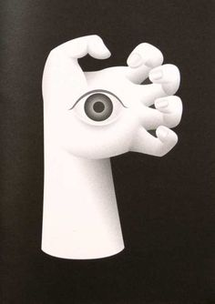 #illustration #bizarre #surreal #clean #hand #eye #scary #monster #weird