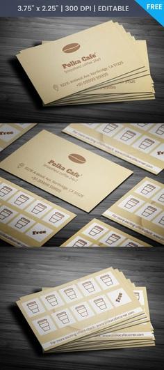 Free Cafe Membership Business Card Template