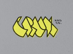 Crux #typography #logo #lettering #chaz russo #crux
