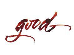 Dribbble - good by Gaze Olga #olga #red #watercolor #gaze #good #typography