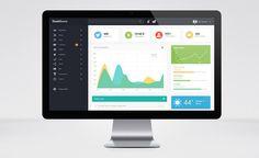 Free Admin Dashboard UI PSD Template