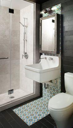 desire to inspire desiretoinspire.net #industrial #interiors #bathroom