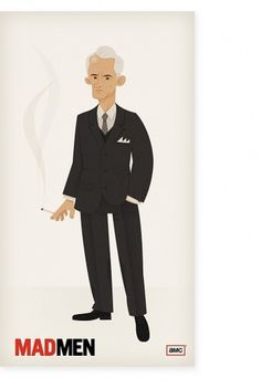 skwirrol #roger #illustration #sterling #character #madmen