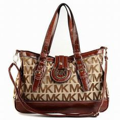 Michael Kors Shoulder Bag Brown Monogram #shoes
