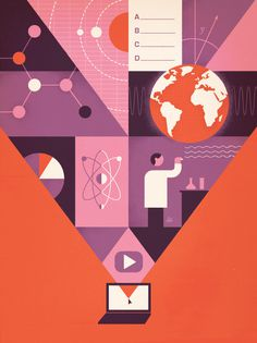 Jesse Lefkowitz Illustration #illustration #geomteric
