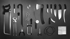 Strautniekas killer kit #axe #weapon #knife #saw
