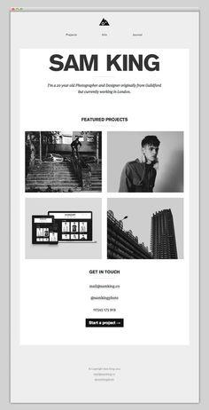 Sam King #website #layout #design #web