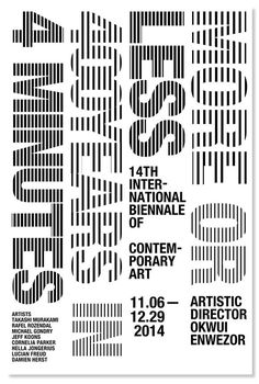 14th International Biennale Poster Type poster by Gina shin #type #treatment #poster #typography