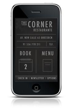 The Corner Restaurante APP on Behance #ux #ui #mobile #minimal #ios #typography