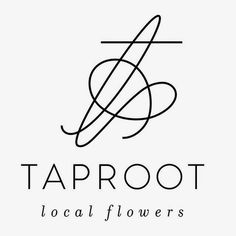 Branding for Taproot Flowers by Linsey Laidlaw #taproot #monogram #linsey #brand #laidlaw #flowers