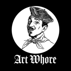 Art Whore III Men's T-Shirt by Seismicmark #drawing #illustration #artsy