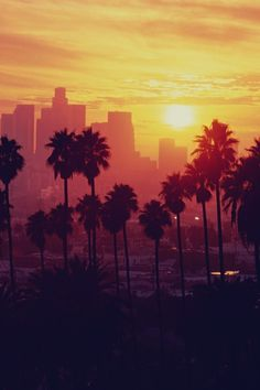 sunset downtown LA #sunset downtown la