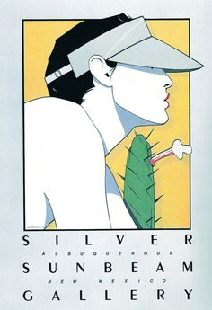 Patrick Nagel: Silver Sunbeam Gallery #serigraph #illustration #art #nagel #patrick
