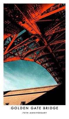 Golden Gate Bridge 75th Anniversary Poster