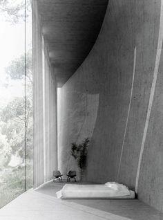 themotifeye: Paul Kaloustian, House in a forest Defringe.com #bed