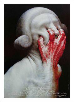 """Danton"" 1991 - Polish Poster Designer Wieslaw Walkuski #polish #design #illustration #poster #art #poland"