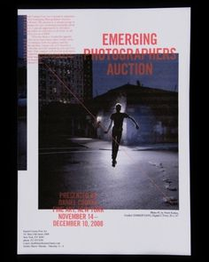 Emerging Photographers Auction → Zak Klauck #flyer #poster