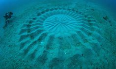 Mysterious Underwater Crop Circles Discovered Off the Coast of Japan #ocean #fish #sand #mystery #art #underwater