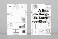 "Monograph ‒ ""A Rua do Burgo de Entre os Rios"" on Behance #monograph #city #design #book #map #cover #editorial"