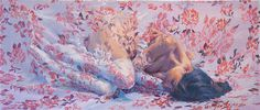 The Lush, Floral Paintings of Sergio Lopez   Hi Fructose Magazine #women #floral #painting #flowers