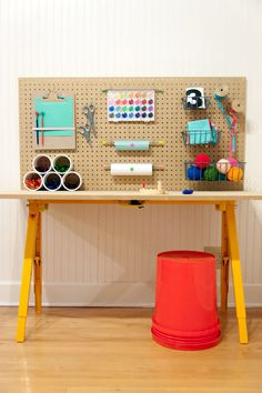 DIY Craft Station for Kids #interior design #decoration #decor #deco
