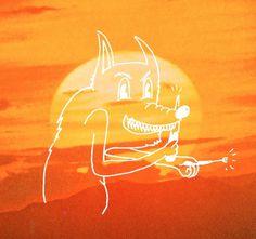 chaz2sexy #sun #y #toro #moi #illustration #wolf