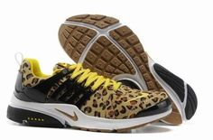 Black Nike Air Mens to Buy New Arrival Presto Leopard Brown Yellow